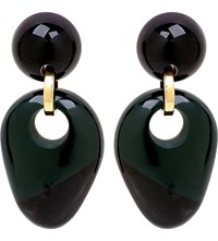 Marni Colour Block Resin Clip On Earrings Spherical Green