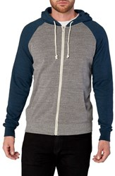Threads For Thought Raglan Hoodie Heather Grey Midnight