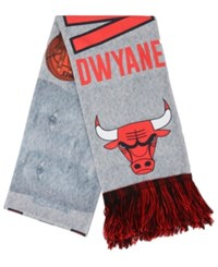 Forever Collectibles Dwyane Wade Chicago Bulls Sublimated Player Scarf Red Black Gray