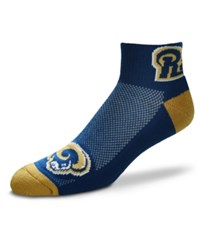 For Bare Feet Los Angeles Rams The Cuff Ankle Socks Navy