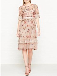Needle And Thread Ditsy Scatter Embellished Dress Pink
