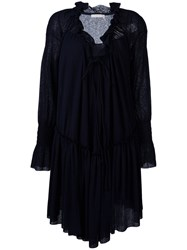 See By Chloe Ruffled Smock Dress Women Cotton Polyester S Blue
