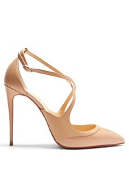 Christian Louboutin Crissos Leather Pumps Nude