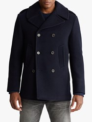 Ralph Lauren Polo Polo Wool Blend Peacoat Navy