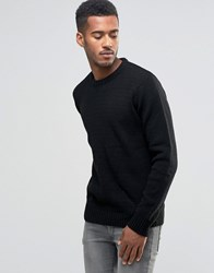 Another Influence Multi Yarn Jumper Black