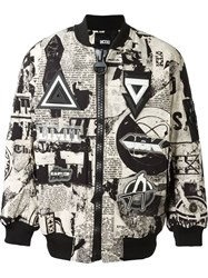 Ktz Printed Bomber Jacket Black