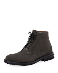 Aquatalia By Marvin K Renzo Suede Lace Up Boots Gray