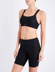 Panache Non Wired Mesh And Jersey Sports Bra Black
