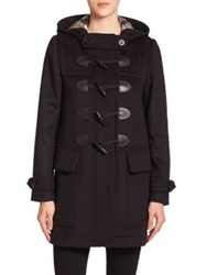 Burberry Finsdale Wool Toggle Coat Black