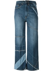 Marc By Marc Jacobs Cropped Panelled Jeans Blue