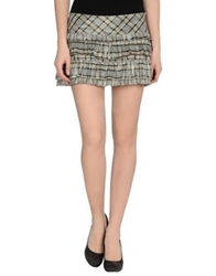 Denny Rose Mini Skirts Light Grey