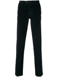 Fay Straight Leg Corduroy Trousers Blue