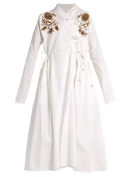 Ashish Embroidered Cotton Dress White