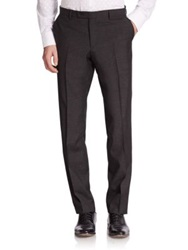 Sand Wool Melange Dress Pants Black Melange