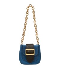 Burberry Shoes And Accessories Small Leather Belt Bag Female Blue