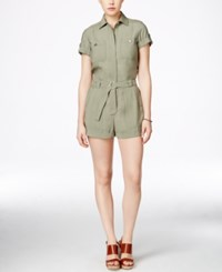 Guess Anja Military Romper Helmut Green