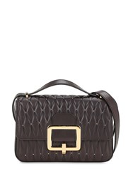 Bally Janelle Quilted Leather Bag W Studs Prugna
