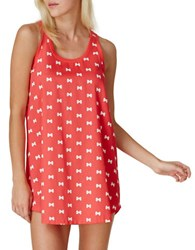 Kate Spade Floral Chemise Red