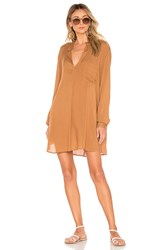 Indah Current Long Sleeve Tunic Brown