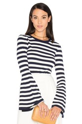 Milly Bell Sleeve Sweater Navy