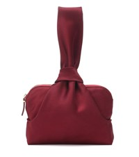 The Row Evening Satin Clutch Red