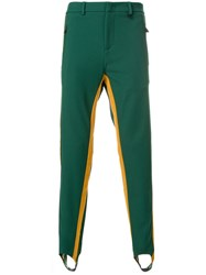 Moncler Grenoble Side Stripe Fitted Trousers Polyamide Spandex Elastane Viscose Green