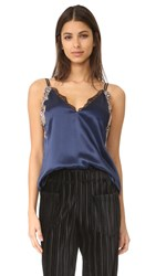 3.1 Phillip Lim Sleeveless Lace Slip Cami Navy