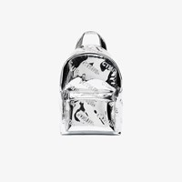 Heron Preston Mirrored Cotton Backpack Metallic