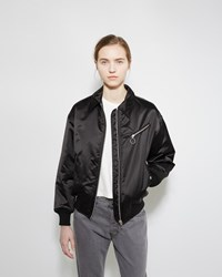 Alexander Wang Collared Nylon Bomber Black