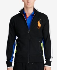 Polo Ralph Lauren Men's Interlock Track Jacket Polo Black Multi
