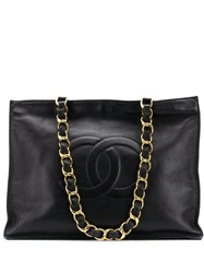 Chanel Vintage 1995'S Cc Shoulder Bag Black