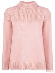 Dondup Turtle Neck Jumper Pink And Purple