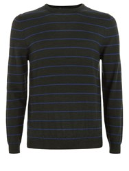 Aquascutum London Rolfe Stripe Crew Neck Knit Green