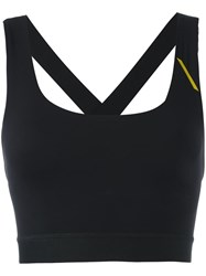 Sapopa Crossed Back Sports Bra Black