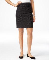 Charter Club Dot Print Pull On Skort Only At Macy's Deep Black