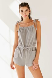 Urban Outfitters Kyra Terry Romper Grey