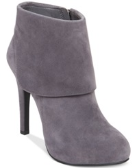 Jessica Simpson Addey Cuffed Dress Booties Women's Shoes Slater Taupe Suede