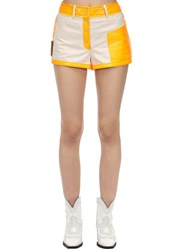 Courreges Contrasting Cotton And Vinyl Shorts Array 0X5888128