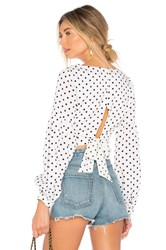 By The Way Yasmin Tie Back Crop Top White