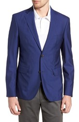 Strong Suit Shelby Trim Fit Wool Blazer High Blue
