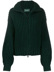 Zadig And Voltaire Aline Eagle Intarsia Cardigan Green