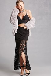 Forever 21 Crochet Side Slit Maxi Skirt