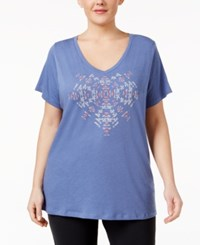 Columbia Plus Size Graphic T Shirt Bluebell