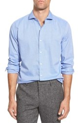 Bonobos Slim Fit Herringbone Flannel Sport Shirt Blue