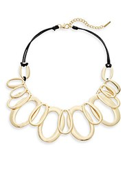 Saks Fifth Avenue Multi Link Station Necklace Goldtone