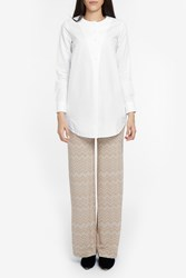 Missoni Snake Zigzag Wide Trousers Beige