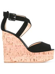 Giuseppe Zanotti Design Cork Wedge Sandals Black