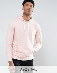 Asos Tall Hoodie In Pink Powder