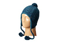 The North Face Fuzzy Earflap Beanie Juniper Teal Cosmic Blue Beanies