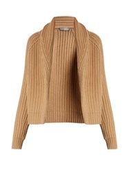 Vince Shawl Neck Wool And Cashmere Blend Cardigan Camel